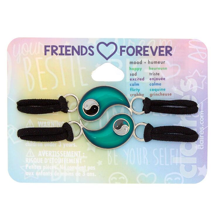 Mood Yin Yang Stretch Friendship Bracelets - 2 Pack,