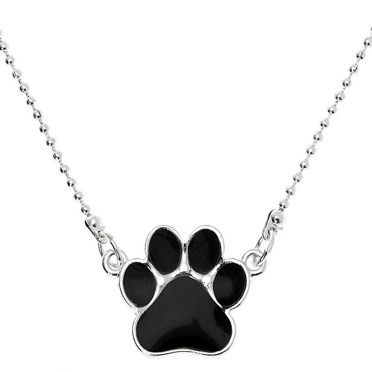 Mood Paw Print Pendant Necklace,