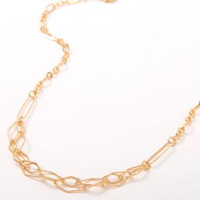 Gold Diamond Cut Chain Necklace,