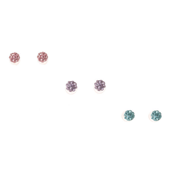 Claire's - sterling pastel fireball stud earrings - 1
