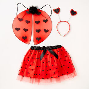 Claire's Club Red Heart Ladybug Dress Up Set - 3 Pack,