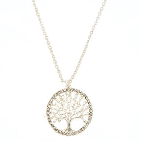 Silver Tree of Life Pendant Necklace,