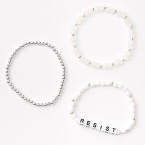 Resist Beaded Stretch Bracelet Set - 3 Pack,