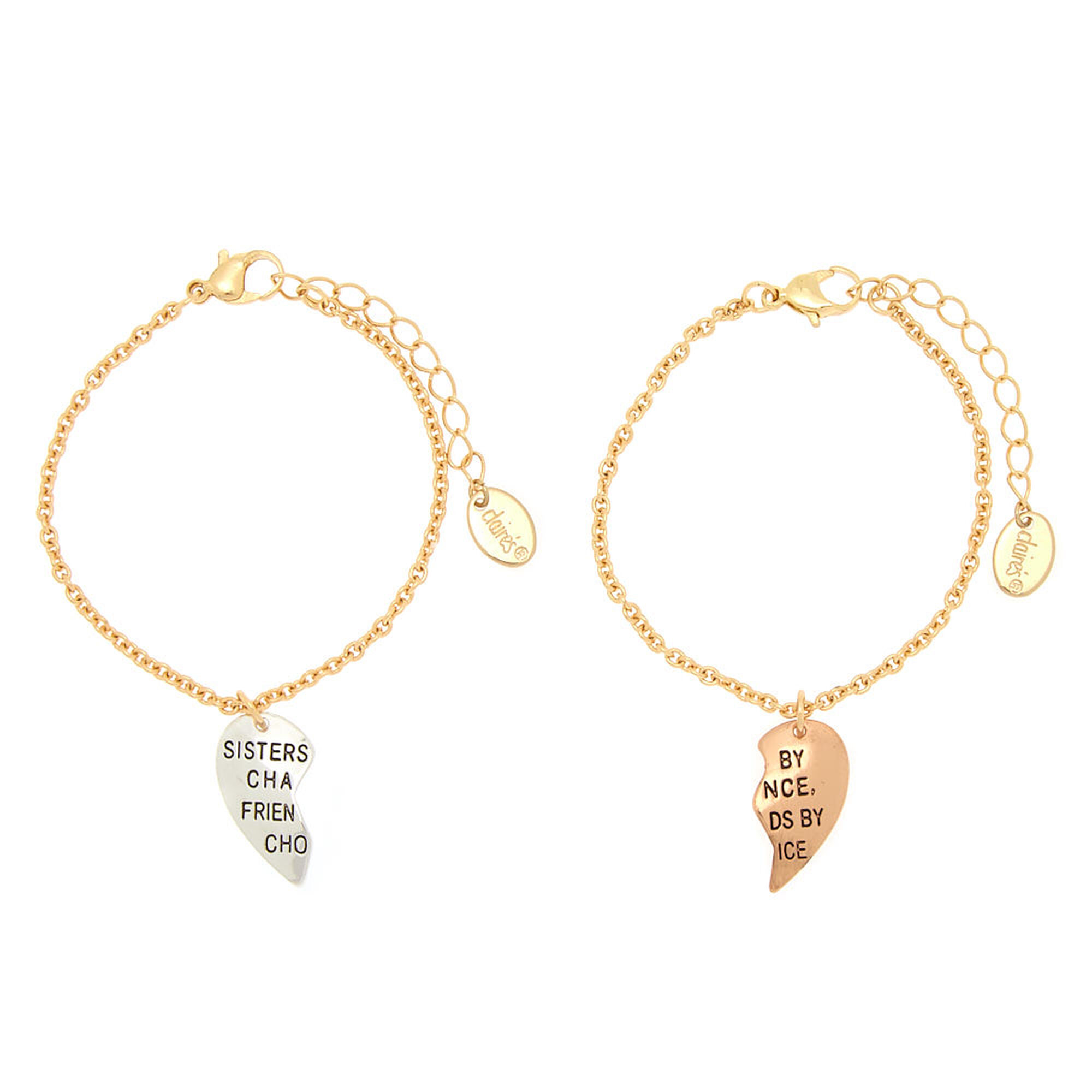 Best Friends Sisters By Choice Charm Bracelets 2 Pack