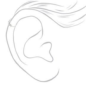 Sterling Silver 20G Crystal Cartilage Hoop Earring,