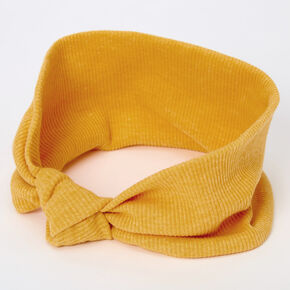 Ribbed Knotted Headwrap - Mustard,