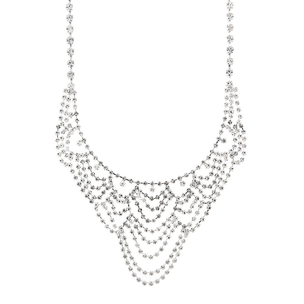 crystal statement necklace claire s us 38 Special Model 10 crystal statement necklace
