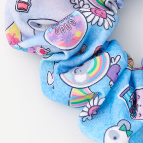 Medium Soda Pop & Rainbows Hair Scrunchie - Blue,