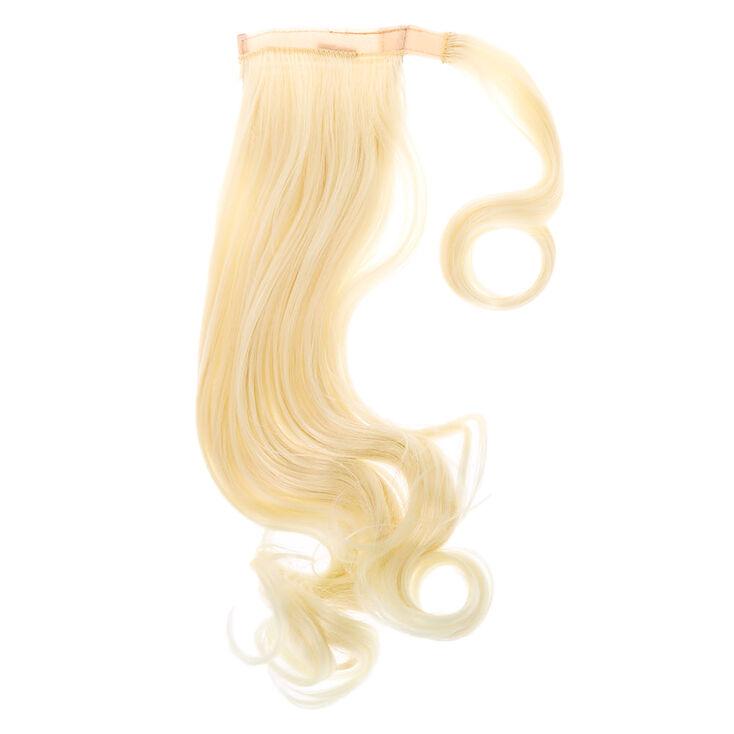 Faux Curly Hair Ponytail Wrap - Platinum Blonde,