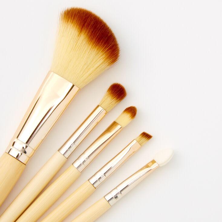 Bamboo Makeup Brushes - 5 Pack,