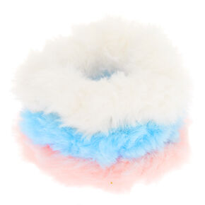 Claire's Club Small Fuzzy Pastel Hair Scrunchies - 3 Pack,