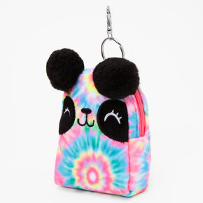 Tie-Dye Panda Mini Backpack Keychain - Rainbow,