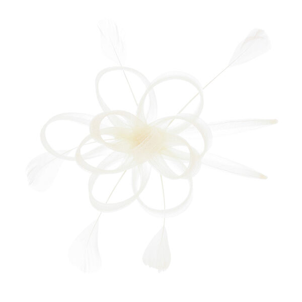 Claire's - cream looped hair clip - 1
