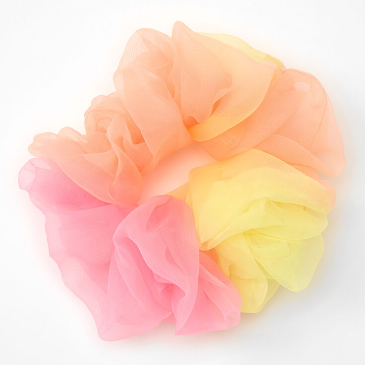Giant Sunset Ombre Hair Scrunchie,