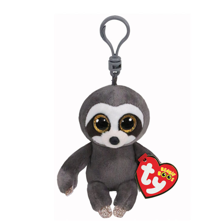 Ty Beanie Boo Dangler the Sloth Keyring Clip
