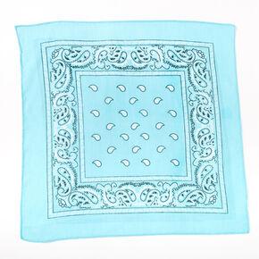 Claire's Club Paisley Bandana Headwrap - Mint,