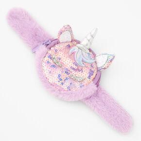 Unicorn Slap Wristlet - Purple,