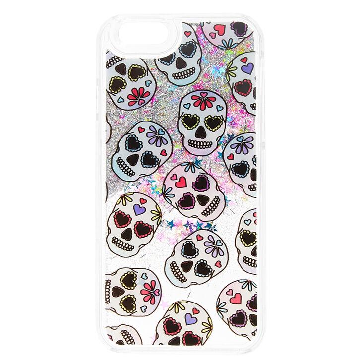 buy online 4ede6 028d7 Pastel Sugar Skull Liquid Fill Phone Case