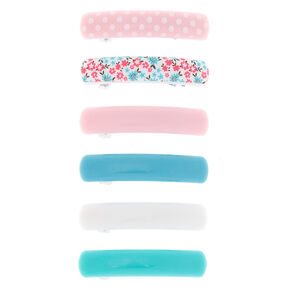 Claire's Club Hair Barrettes - 6 Pack,