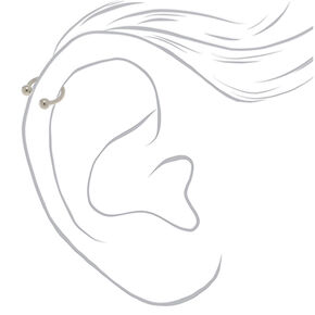 Silver Titanium 16G Assorted Cartilage Earrings - 3 Pack,