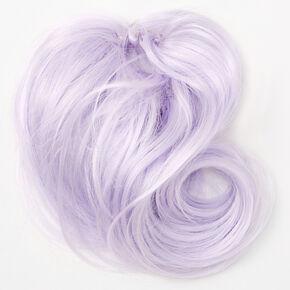 Faux Hair Bun Extension - Lilac,