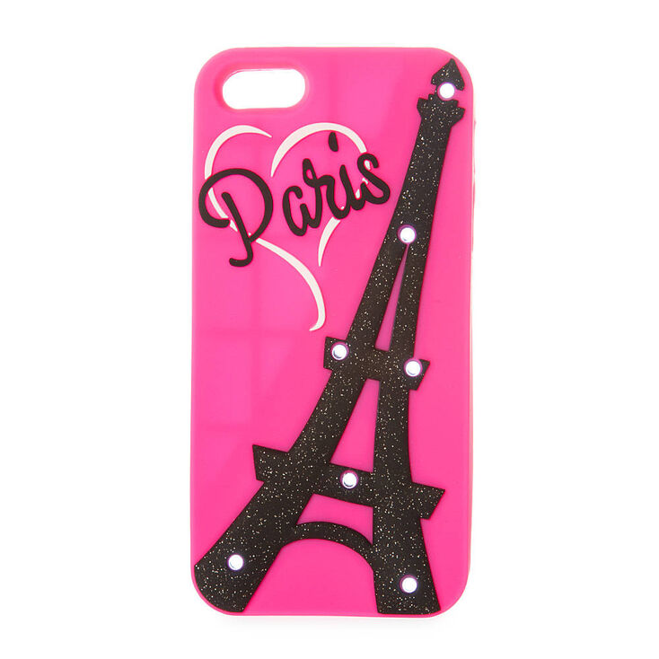 online store 0b54c f29ee Silicone Light Up Glitter Eiffel Tower Phone Case
