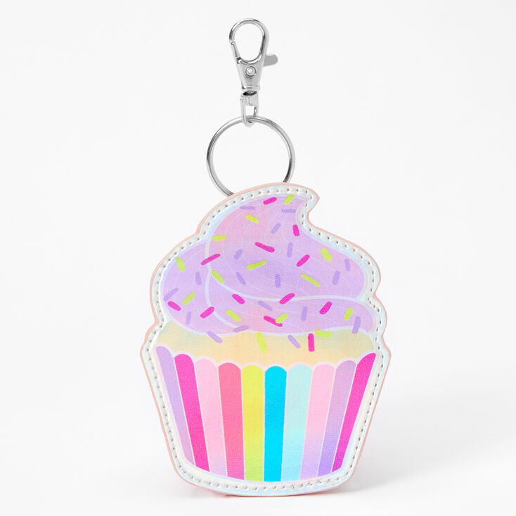 Frosted Cupcake Mini Backpack Keychain - Pink,