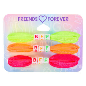 Neon Ribbon Stretch Friendship Bracelets - 3 Pack,