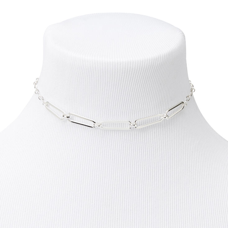 Silver Thin Chain Link Necklace,