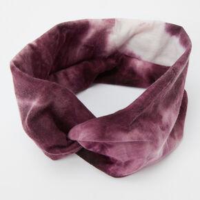 Tie Dye Twisted Headwrap - Burgundy,
