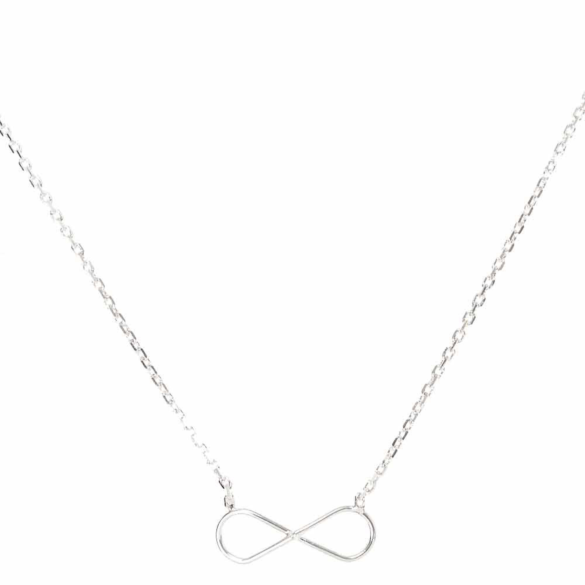 infinity gold white in necklace pendant