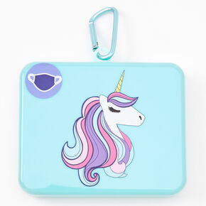 Unicorn Face Mask Case - Mint,