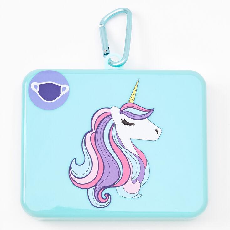 Unicorn Face Mask Case - Mint,