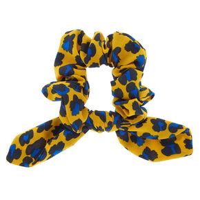 Bold Leopard Bow Hair Scrunchie - Mustard Yellow 2f48c8b78dc