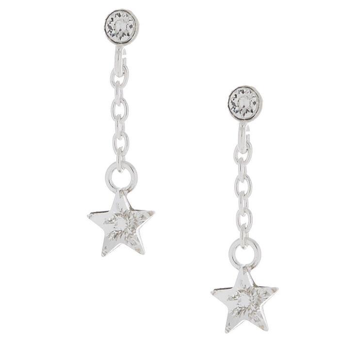 Sterling Silver Swarovski Crystal Star Drop Earrings