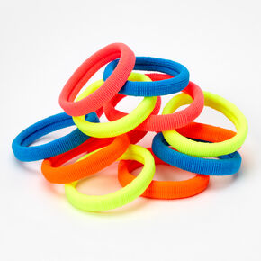 Neon Rolled Hair Ties - 12 Pack,