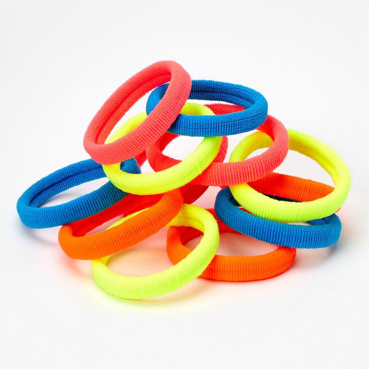 Neon Rolled Hair Ties - 12 Pack,