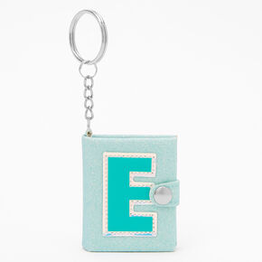 Initial Mini Journal Keychain - E,