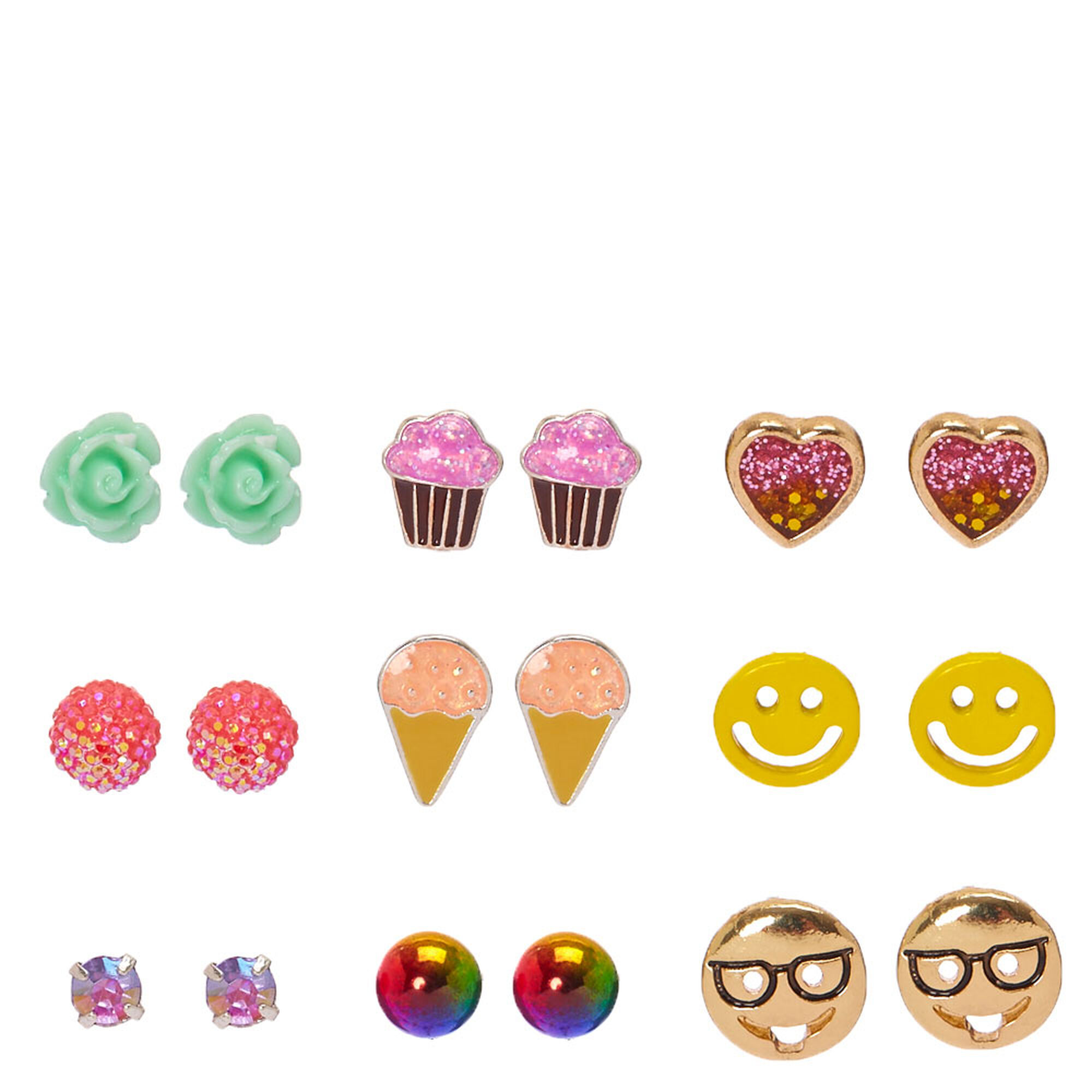 emoji cartoon studs girls product women stud lovely for store plated birthday gold cute earrings designs