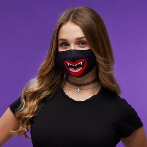 Masque en coton motif vampire - Taille adulte,
