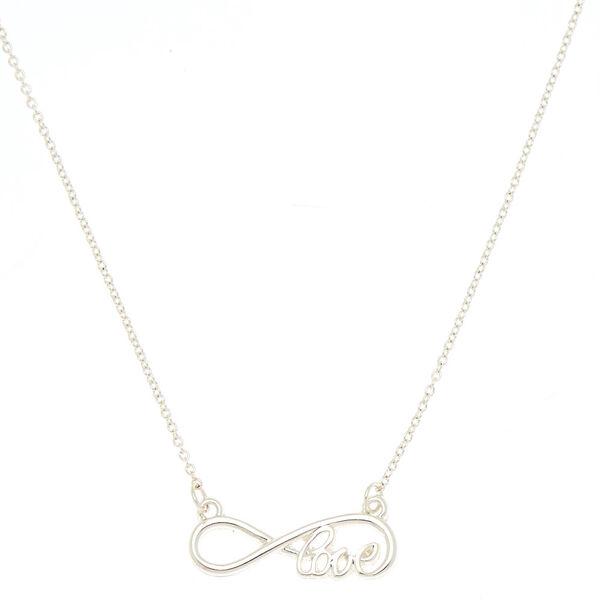 Claire's - infinity love pendant necklace - 1