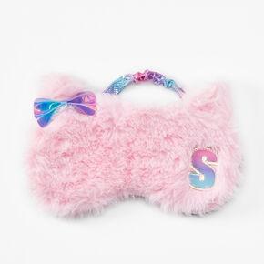 Masque de sommeil chat à initiale - Rose, S,