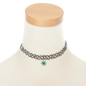 Mood Sun Tattoo Choker Necklace,