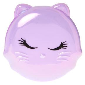 Feline Compact Mirror - Purple,