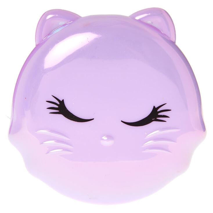 Miroir compact félin - Violet,