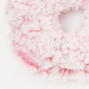 Medium Teddy Hair Scrunchie - Pink,