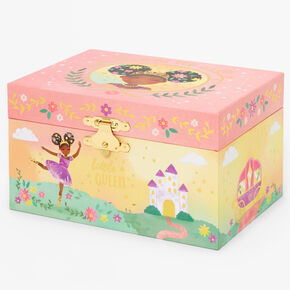 Claire's Club Little Queen Musical Jewelry Box - Pink,