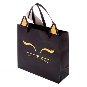 Matte Kitty Cat Gift Bag - Black,