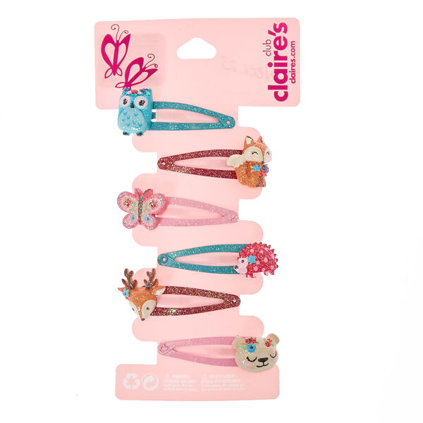 Claire's - club glitter critter snap hair clips - 1