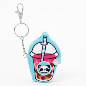 Drink Cup Mini Diary Keychain - Blue,